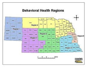 Nebraska Behavioral Health Regions (HHSS)